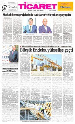 TÜRKİYE NİN İLK EMLAK ACENTELERİ KOOPERATİFİ ISTEB KURULDU-ticareet gazetesi